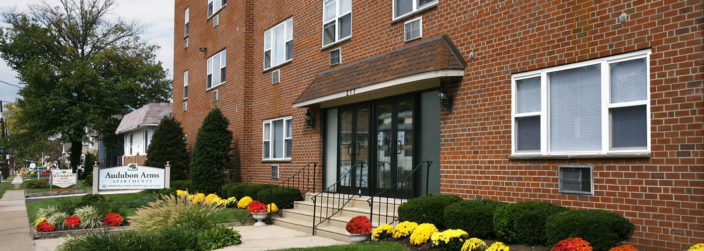 Audubon Arms Apartments in Audubon, NJ building exterior