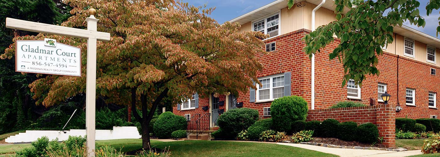 Gladmar Court Apartments in Haddon Heights, NJ building exterior