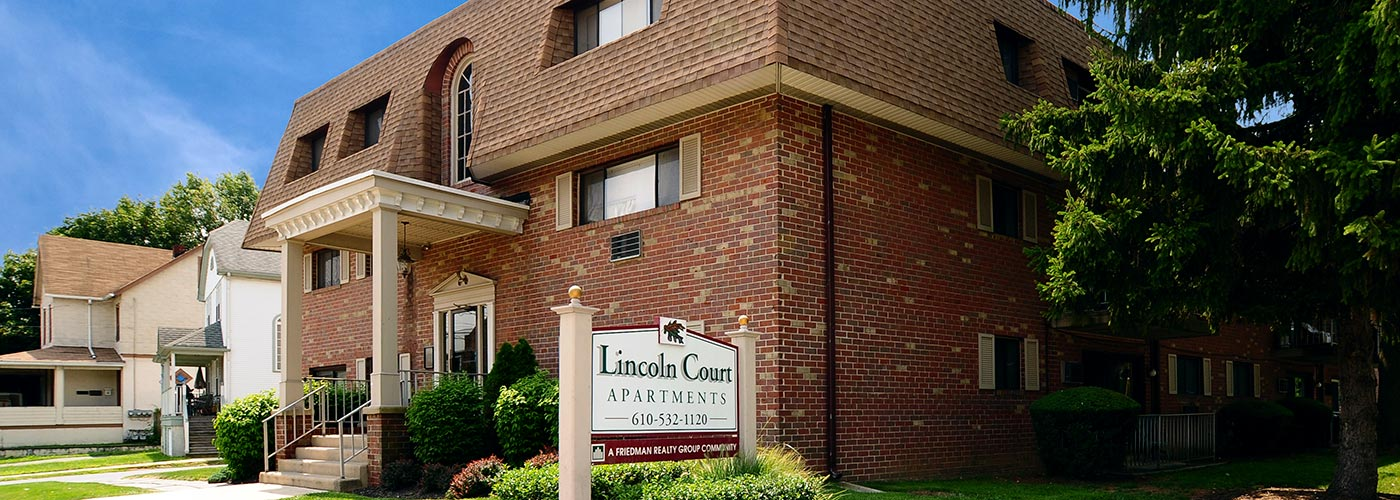Lincoln Court Apartments in Prospect Park, PA building exterior