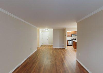 Chestnut House Apartments unfurnished living room