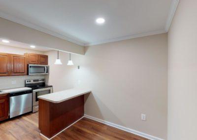 Chestnut House Apartments unfurnished kitchen