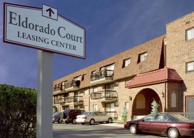 Eldorado Court Apartments exterior sign
