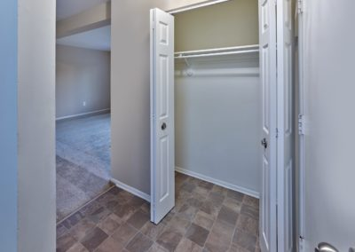 Large hall closet at apartment for rent in Medford, NJ