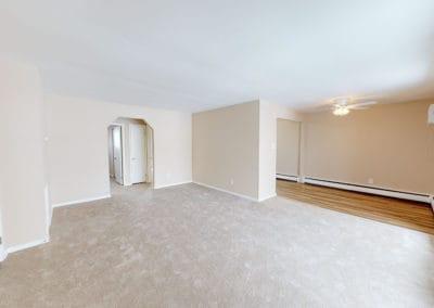 Edgewater Apartments interior living room