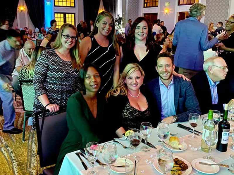 Friedman employees at the PAA Best of Leasing Awards dinner
