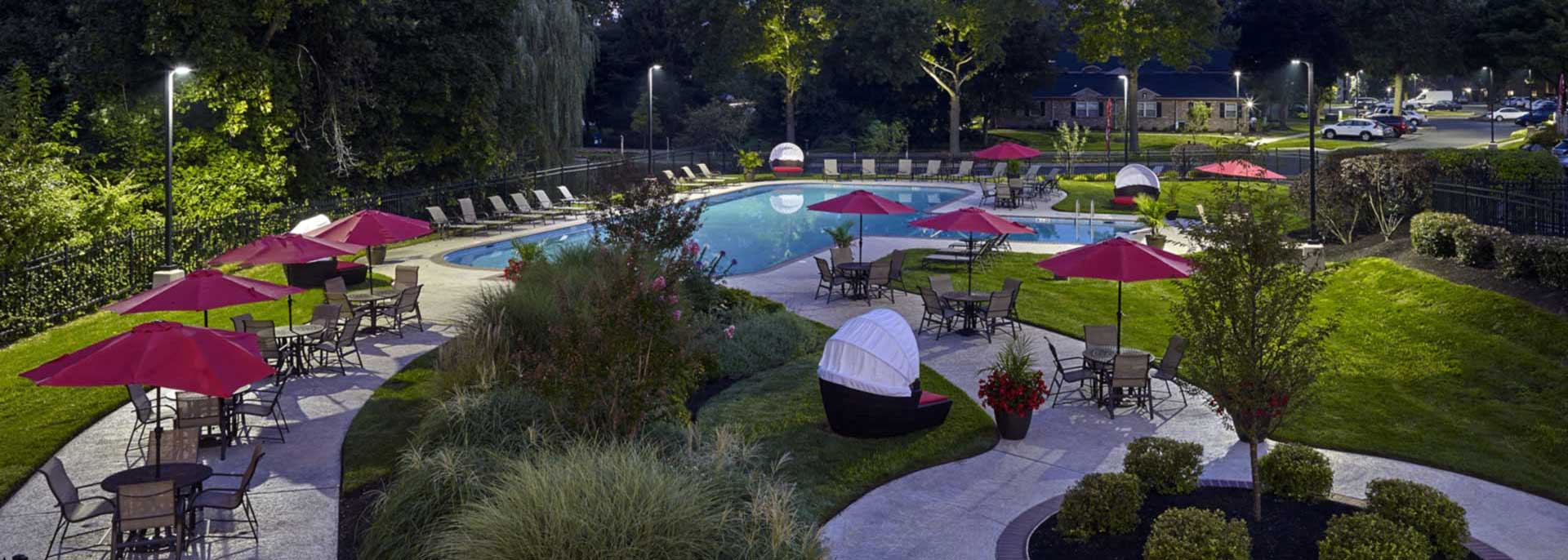 Willowyck Apartments in Lansdale, PA pool and outdoor lounge area