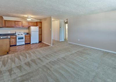 Audubon Arms Apartments apartment interior living area and kitchen