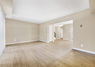 Huge living area in an apartment for rent in Somers Point, NJ with lots of natural light and neutral colored walls