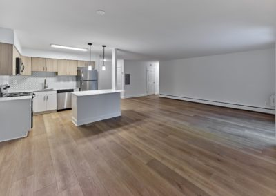 Apartment for rent in Wayne, PA with an open floor plan, hardwood flooring, and renovated kitchen