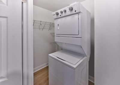 In-unit, stackable washer and dryer in Aberwyck apartments for rent